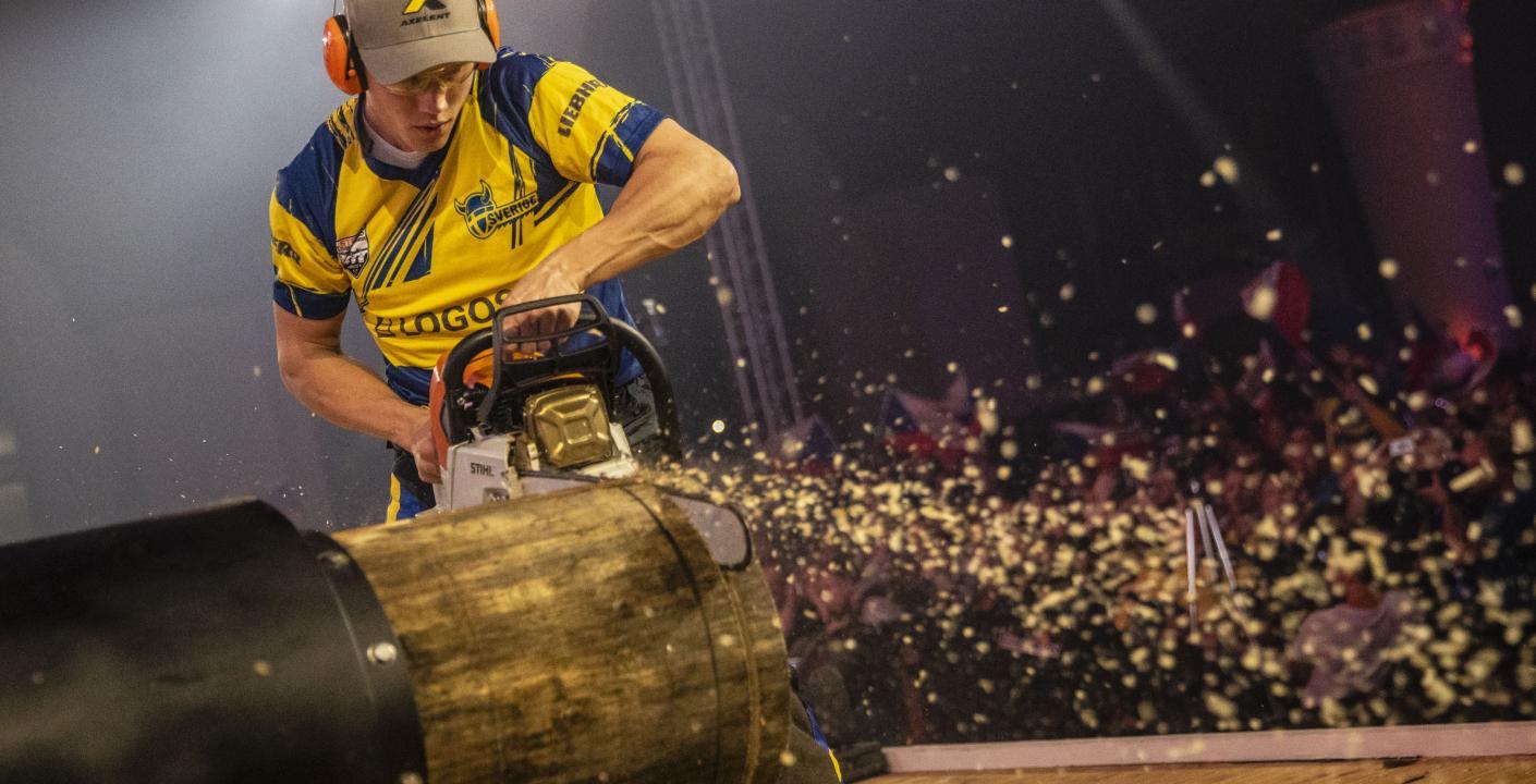 Ferry Svan Writes Swedish Timbersports History During World Championship Stihl Timbersports